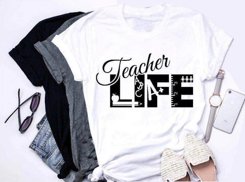 'Teacher Life' Casual Teacher Life T-Shirt