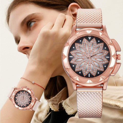 Rose, Gold or Silver Mandala Designed Women's Watch