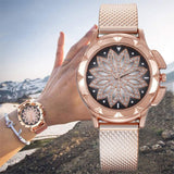 'Mandala Watch' Rose, Gold or Silver Mandala Designed Women's Watch