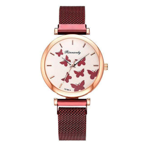 'Fly Butterflies' Butterfly Watch and Bangles, 5 piece set