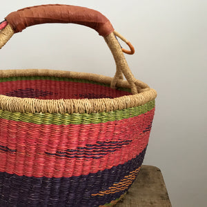 'Jewel' - Large Bolga Basket