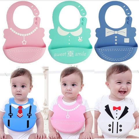 New Arrive Baby bibs Waterproof silicone feeding bib, Food-grade silicone Bibs
