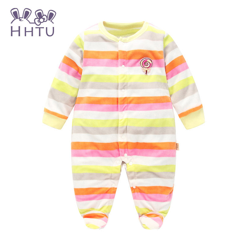 89f06b8a3 Baby Rompers long sleeved Outfit Polar Fleece baby Clothing ...