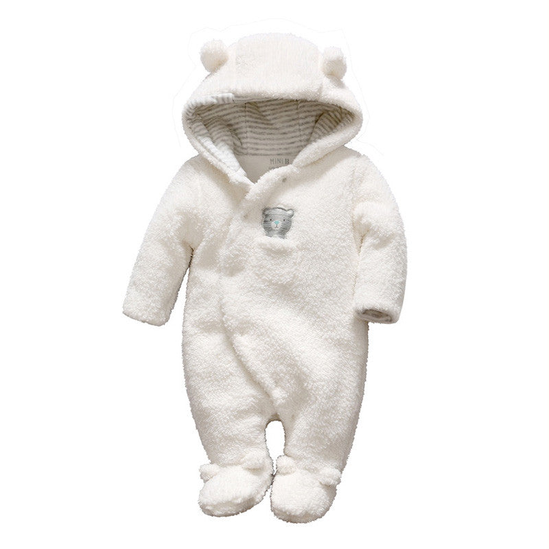 81ea0bf7b507 ... Tender Babies Newborn baby clothes bear onesie baby girl boy rompers  hooded plush jumpsuit winter overalls ...