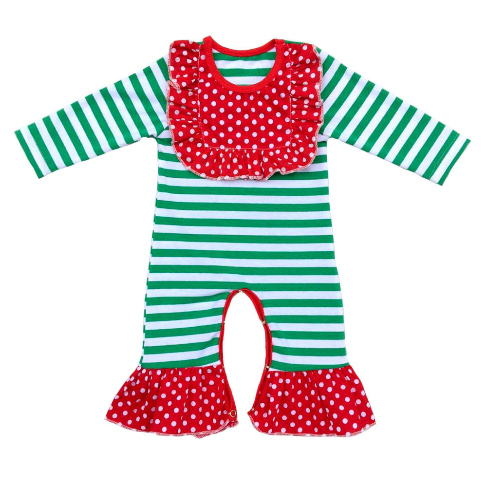 Christmas Jumpsuit Baby.Baby Romper Baby Girl Long Sleeve Jumpsuit Christmas Baby Romper