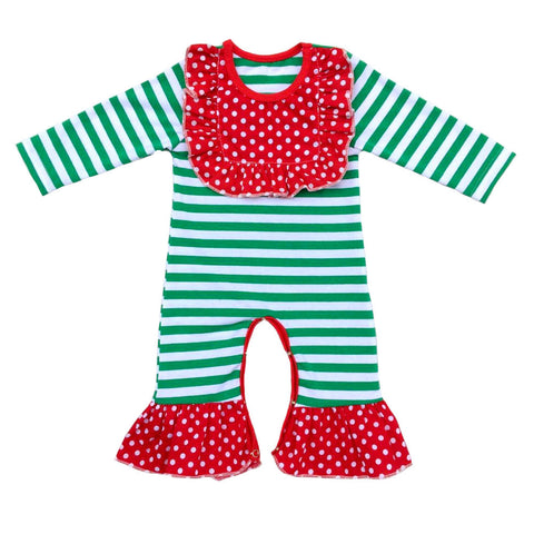 Baby romper, Baby Girl Long Sleeve jumpsuit, christmas baby romper.