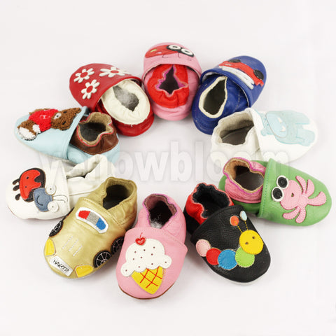 Soft Leather Baby Infant Shoes First ,Walkers Leather Skid-Proof Baby Shoes