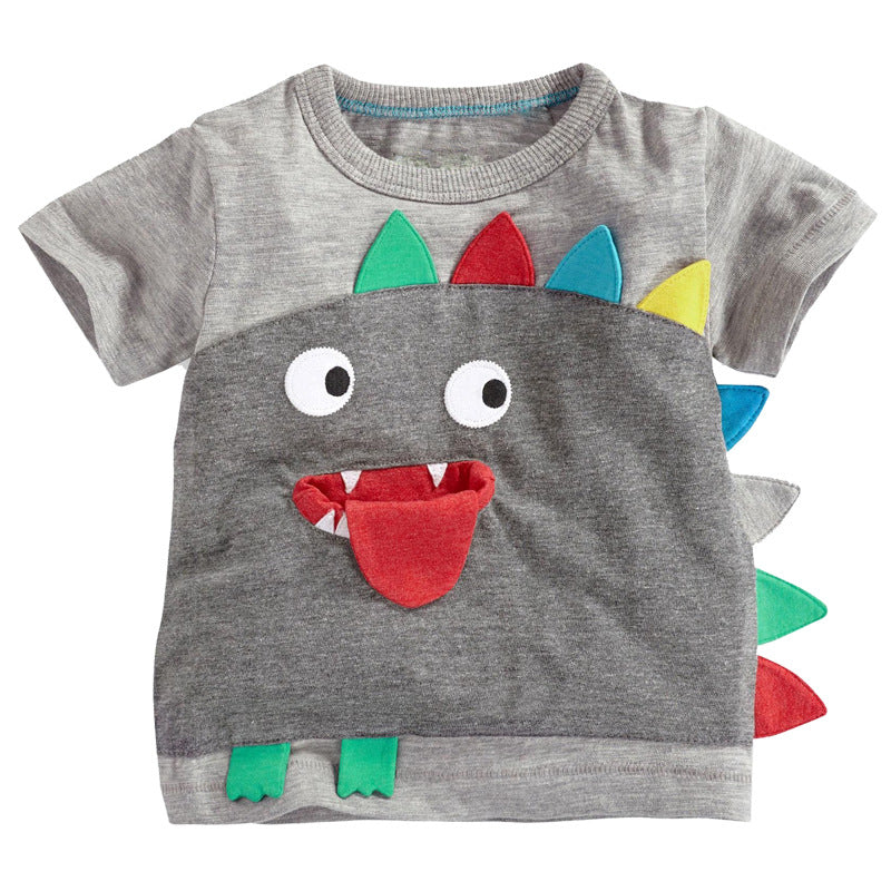 Boy Dinosaur Monster T-Shirt, Colorful Dinosaur shirt, Boy Tops Tees