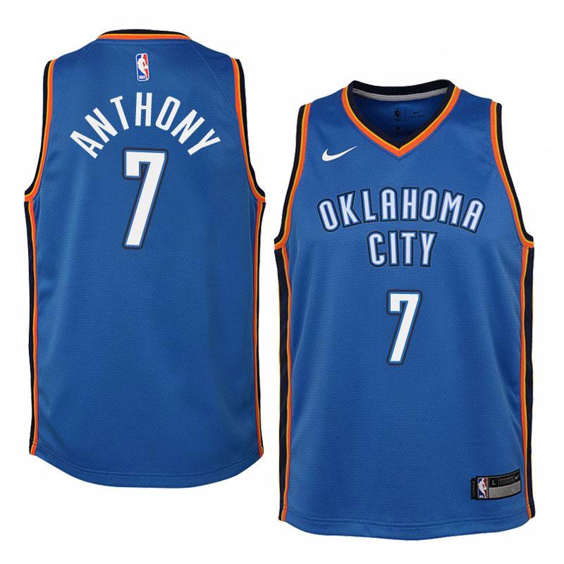 87c3d84da8ec ... new zealand oklahoma city thunder 7 carmelo anthony blue swingman  jersey icon edition 13fb7 5b9d2
