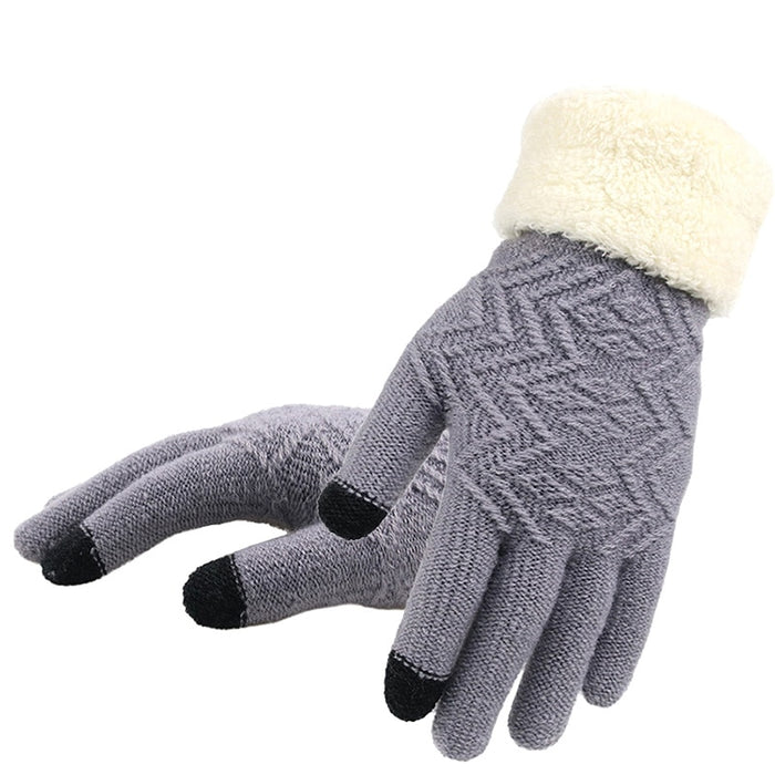 3e9642a0d Touch Screen Knitted Gloves Soft Stretch