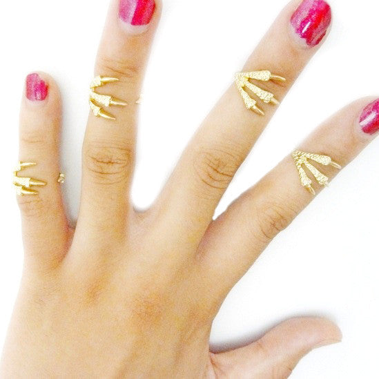 4 Pcs Fashion Women Talon Ring Joint Knuckle Nail Finger Rings Gift GD