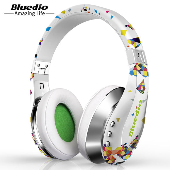 Bluedio A (Air)  Wireless Bluetooth Headphones with Microphone 3D Surround Sound headset