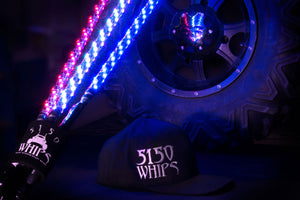 DIRTSPYDER PAIR OF 6FT LED BLUETOOTH WHIPS WITH NEW MAGNETIC BASE BY 5150