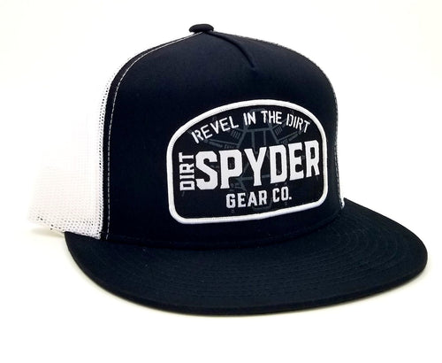 DIRTSPYDER BLACK/WHITE REVEL TRUCKER SNAPBACK