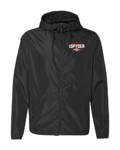 DIRTSPYDER BLACK WINDBREAKER UNISEX