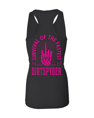 DIRTSPYDER SURVIVAL OF THE FASTEST RACERBACK TANK BLACK
