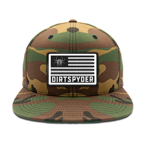 DIRTSPYDER CAMO PATRIOT FLAT BILL SNAP BACK