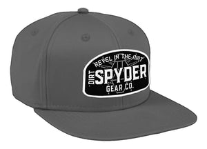 DIRTSPYDER REVEL IN THE DIRT GRAY SNAPBACK