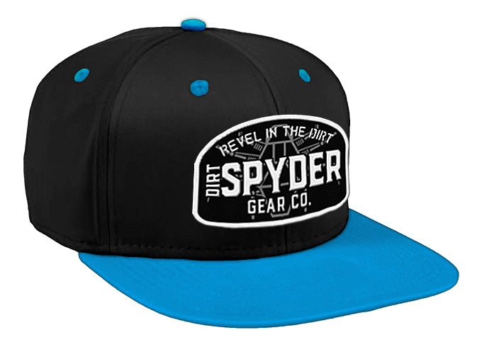 DIRTSPYDER  REVEL IN THE DIRT BLACK/BLUE SNAPBACK