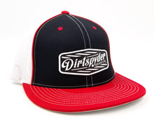 DIRTSPYDER BLACK/RED RUBBER PATCH FITTED HAT
