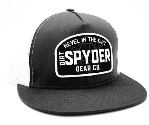 DIRTSPYDER GRAY/WHITE REVEL TRUCKER SNAPBACK