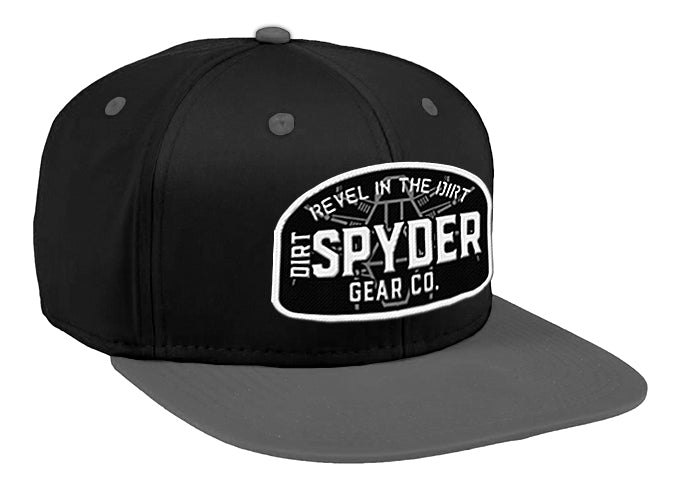 DIRTSPYDER REVEL IN THE DIRT GRAY/BLACK SNAPBACK