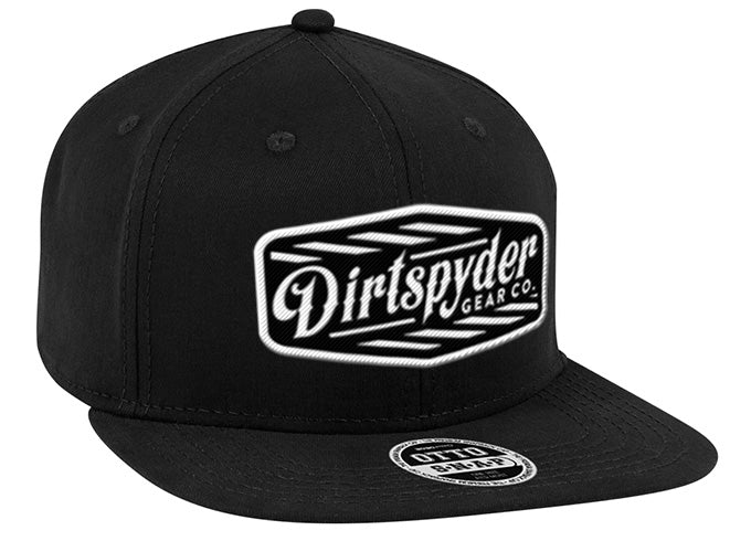 DIRTSPYDER RUBBER PATCH BLACK TRUCKER HAT