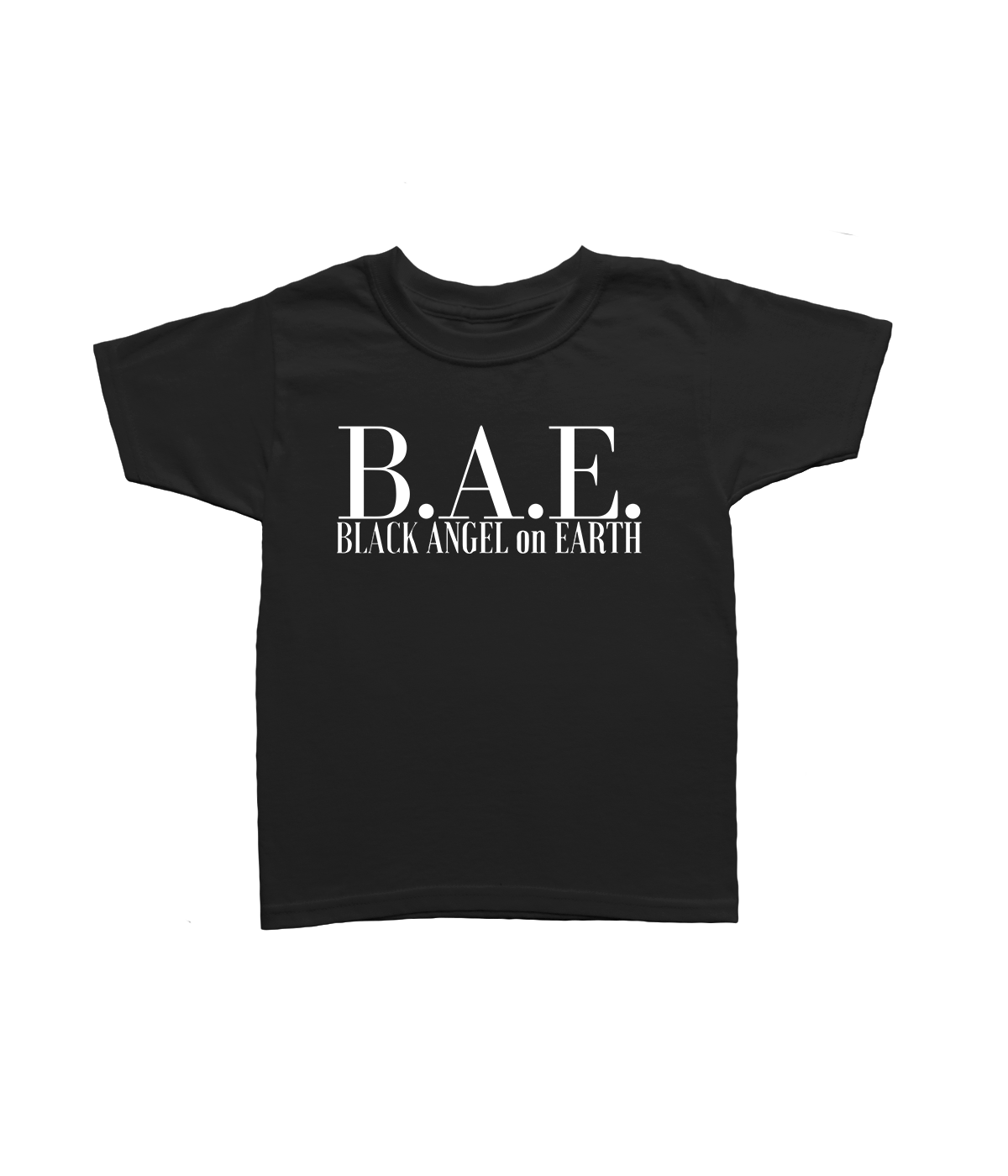 Toddler. Youth. Black Angel Short Sleeve T-Shirt
