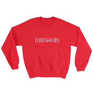 Curves&Curls Sweatshirt.Red.Grey