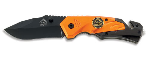 PUMA TEC one-hand rescue knife (orange)