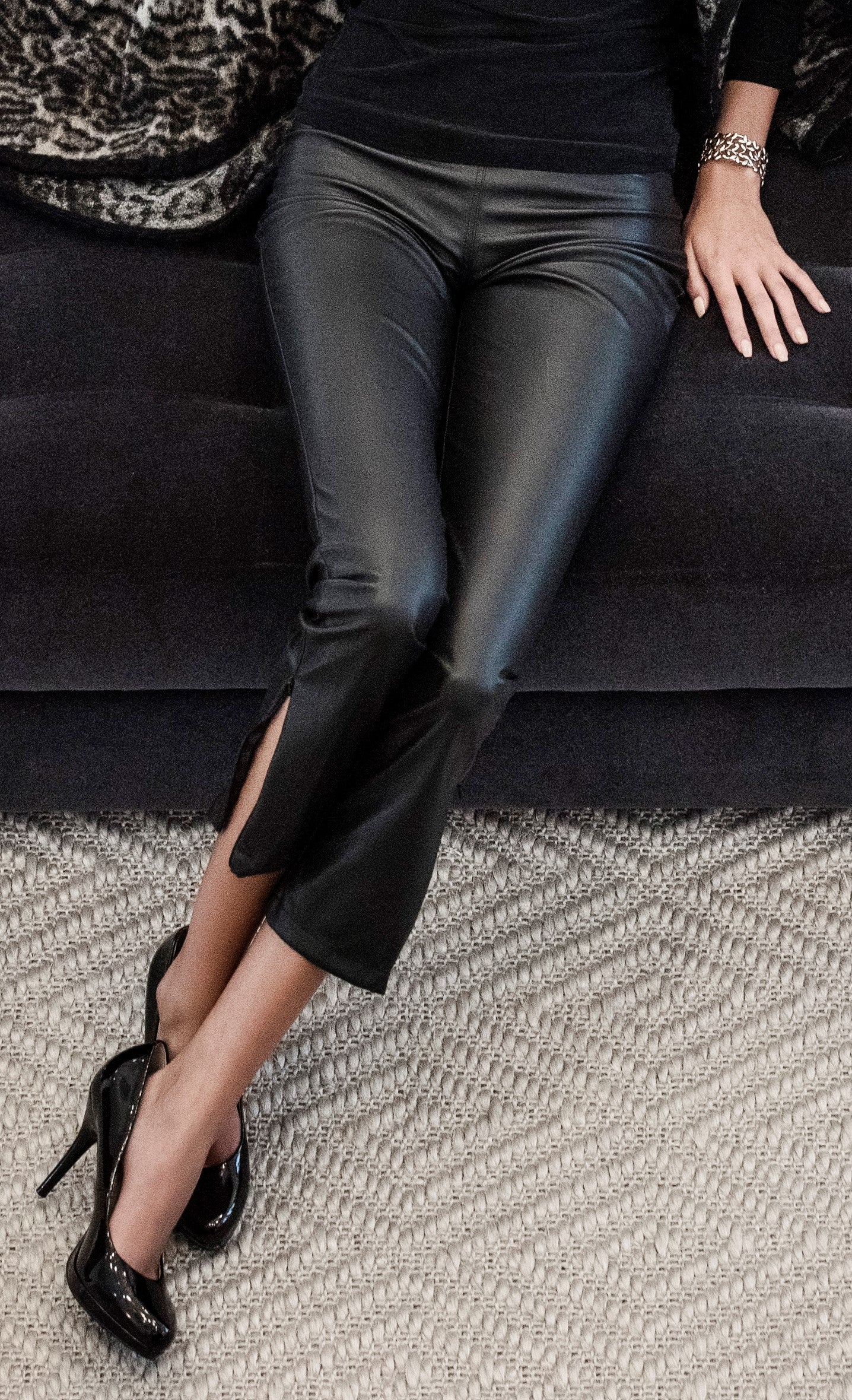 FAUX LEATHER SKINNY PANT