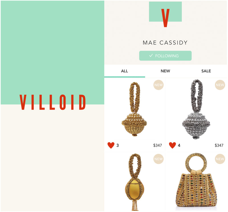 VILLOID | Mae Cassidy Now Stocked on Alexa Chung's new style board App!