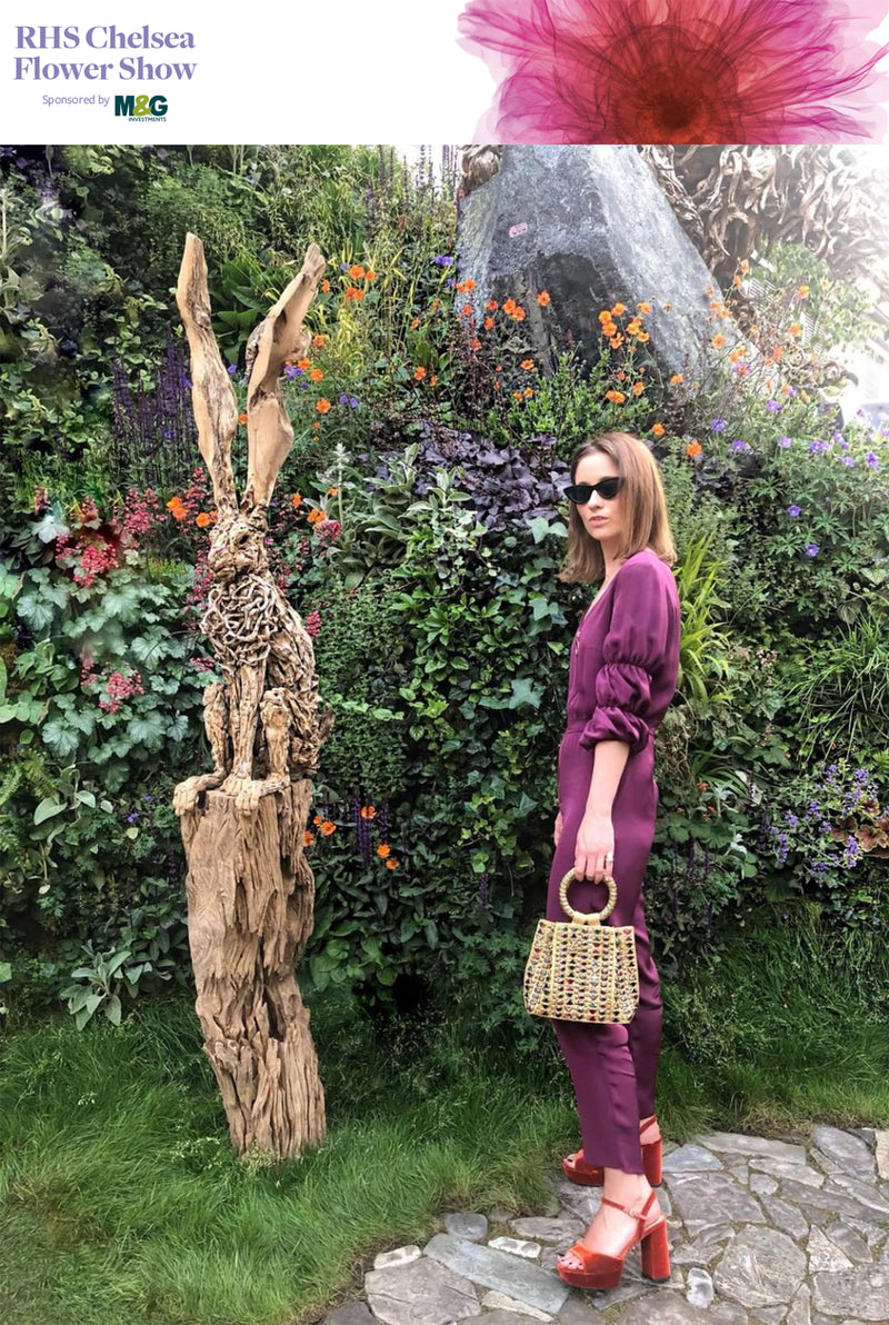 RHS Chelsea Flower Show 2018 | The London Chatter wears Mae Cassidy