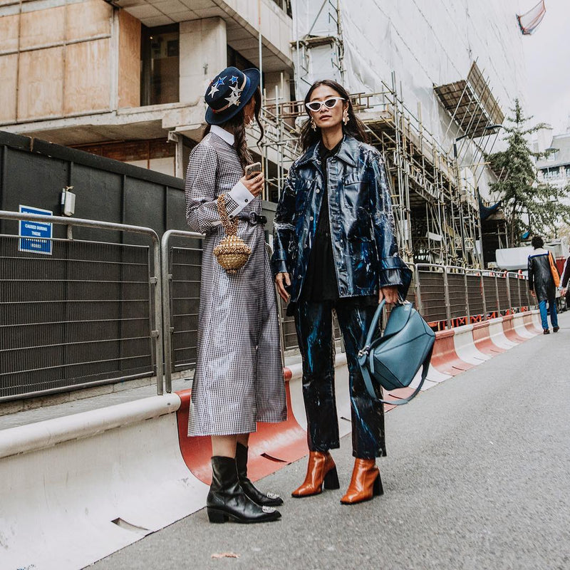 London Fashion Week Street Style | Gabriella Berdugo spotted wearing the Mae Cassidy Simi Sparkle