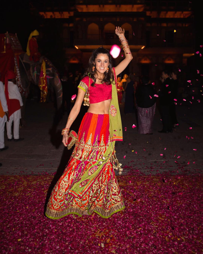 Dancing into 2019 like Rosanna Falconer in Mae Cassidy at Jaipur City Palace's British Polo Day Gala
