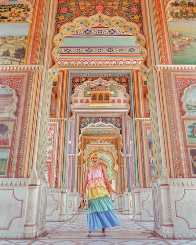 Rosana Falconer wears Mae Cassidy on her colourful trip to India