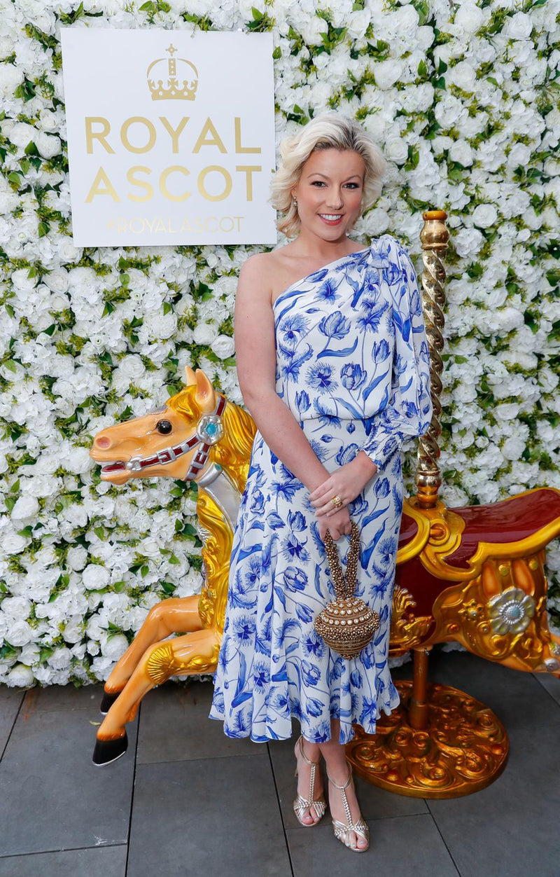 Royal Ascot 2019 Style | Natalie Rushdie wears Mae Cassidy with Amber Le Bon at the Royal Ascot Village Enclosure Event