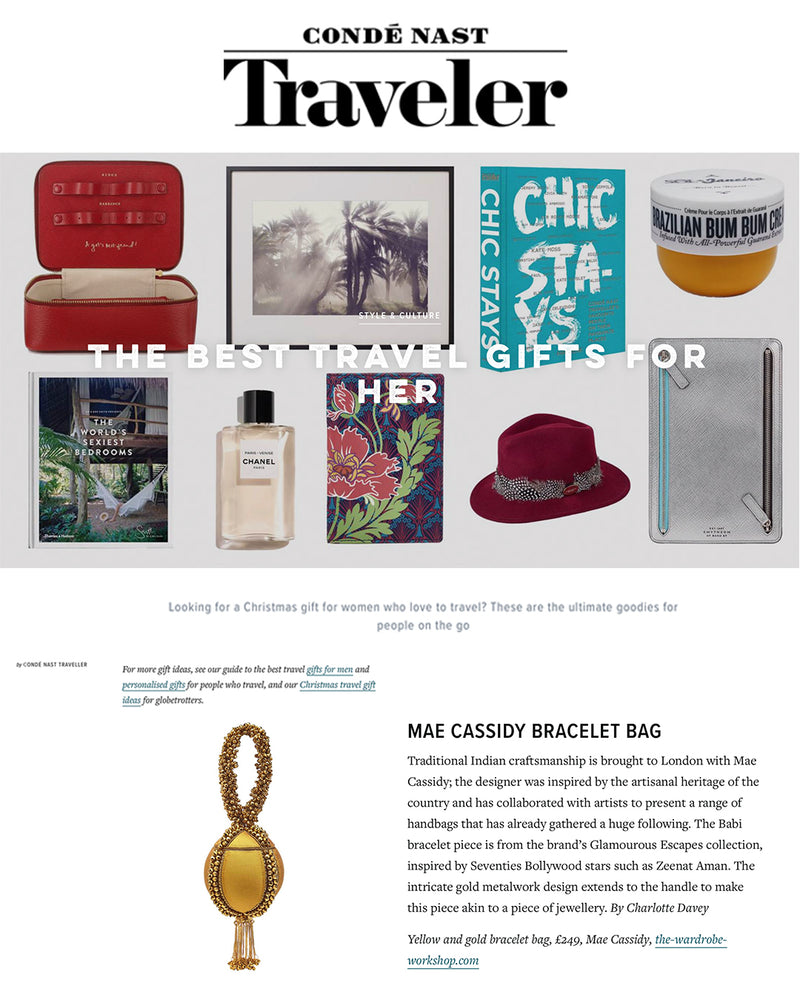 Condé Nast Traveller feature's Mae Cassidy in 'The Best Travel Gifts for Her'