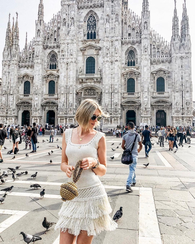 Milan Fashion Week Street Style | Sofie Valikers spotted wearing the Mae Cassidy Simi Sparkle