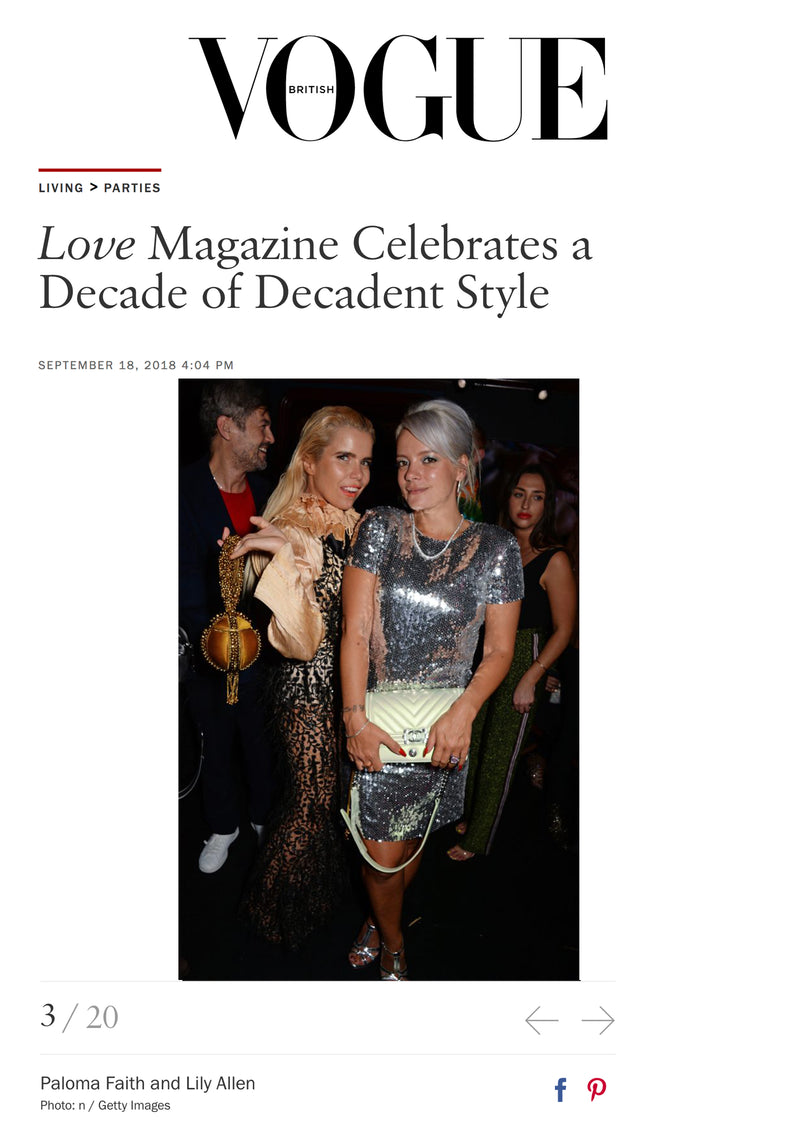 LOVE Magazine's 10th Birthday Party | Paloma Faith wears the Mae Cassidy, Babi Bracelet