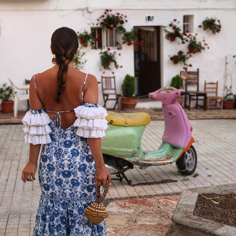 Maya Williamz wears the Simi Sparkle in Marbella Old Town.