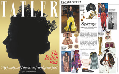 TATLER MAGAZINE features Mae Cassidy in Her Majesty The Queen's Cover, British June Issue 2020 Issue