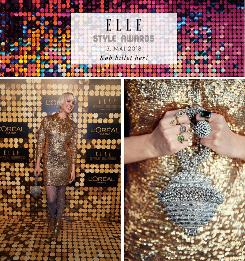 In the Press| ELLE Style Awards DK | 2018 Cecilie Rudolph Wears Mae Cassidy Simi Sparkle
