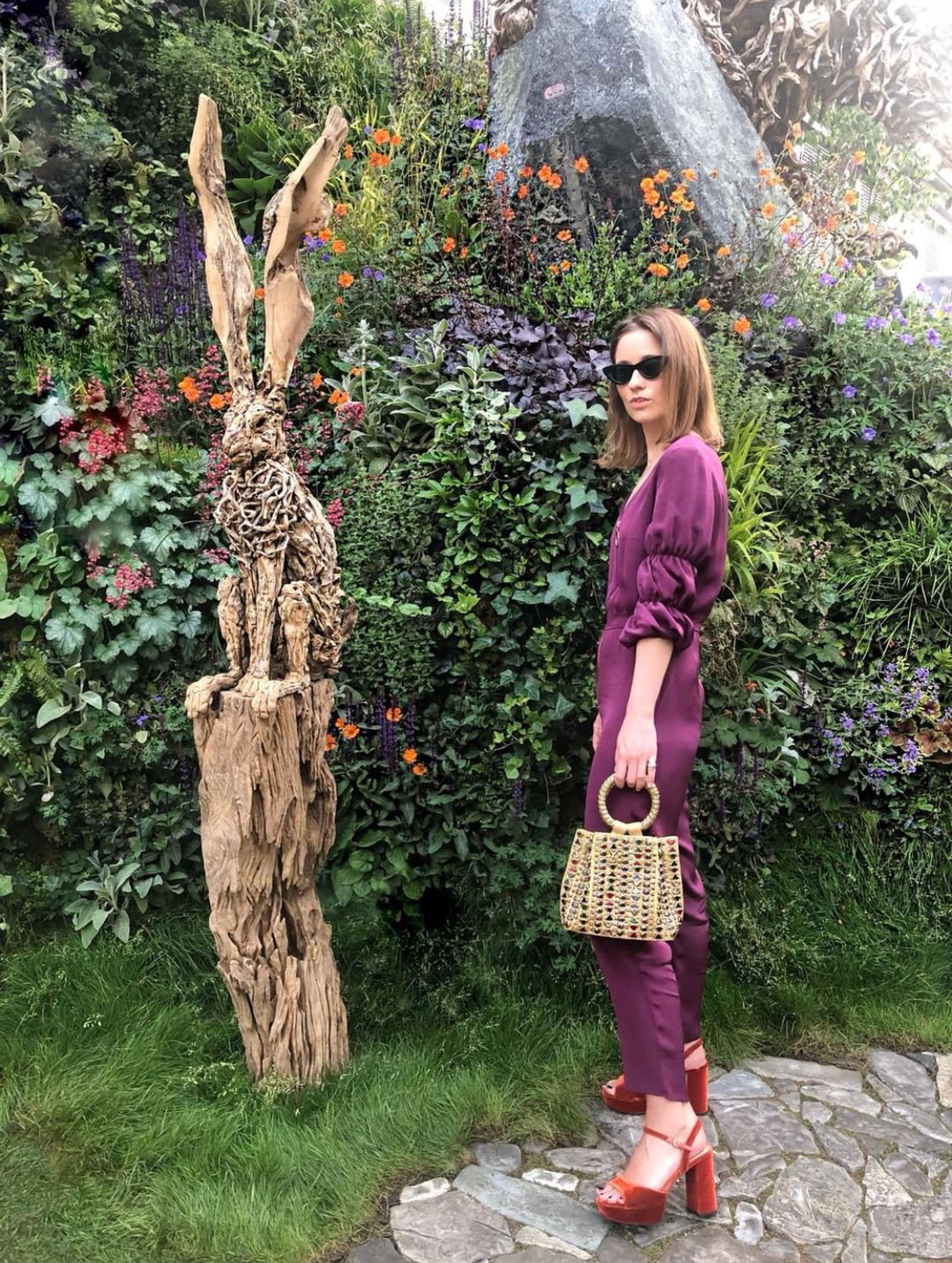 RHS CHELSEA FLOWER SHOW THE LONDON CHATTER MAE CASSIDY KELLY EASTWOOD REKHA REFLECT LUXURY ACCESSORIES EMBELLISHED UNIQUE