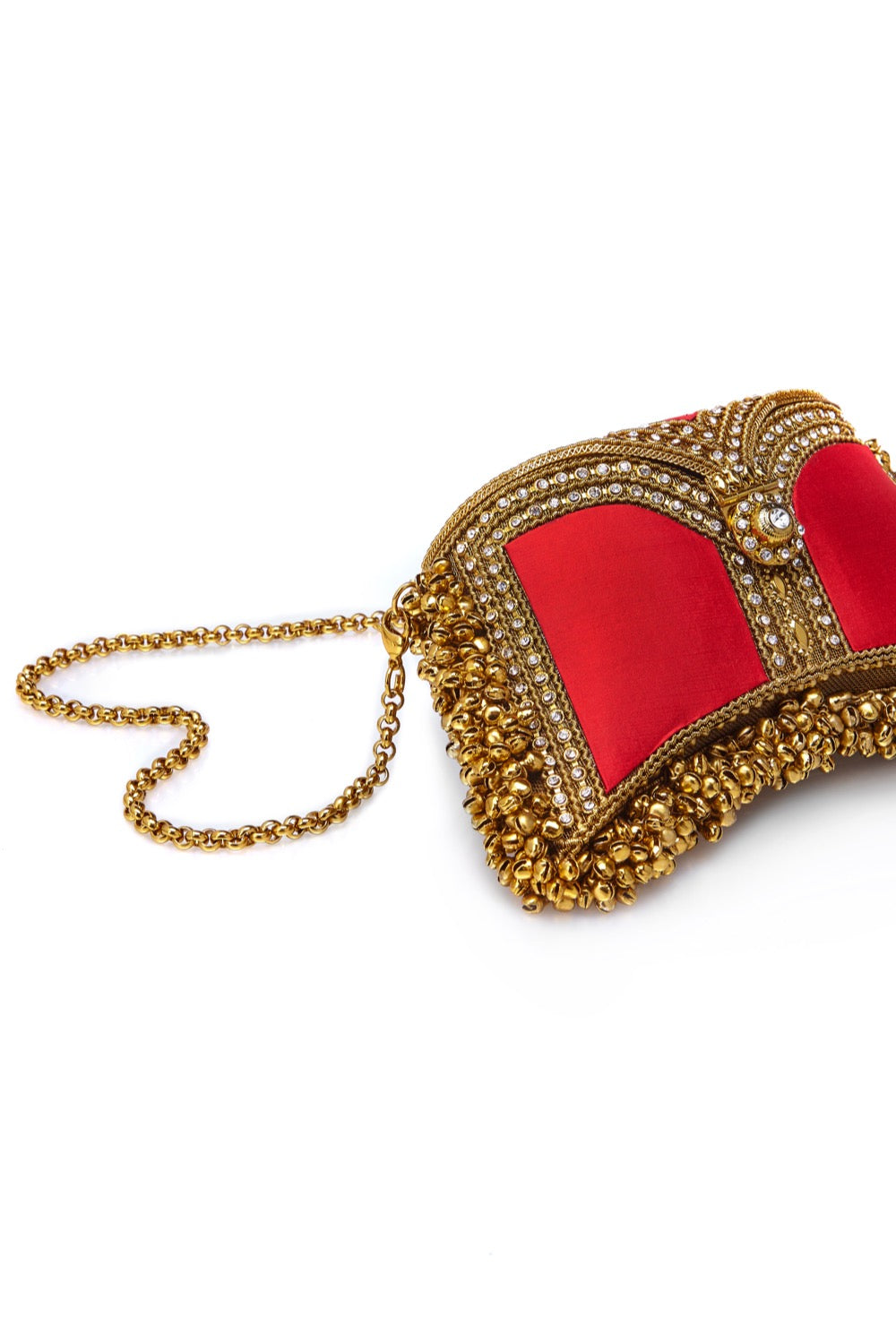 Mae Cassidy Wolf and Badger  Embellished clutch Handbag handmade luxury accessories unique silk beaded zeenat clutch cross body fiery red