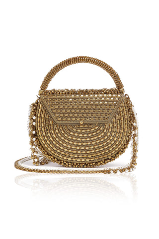 Parveen Powder Purse | Gold