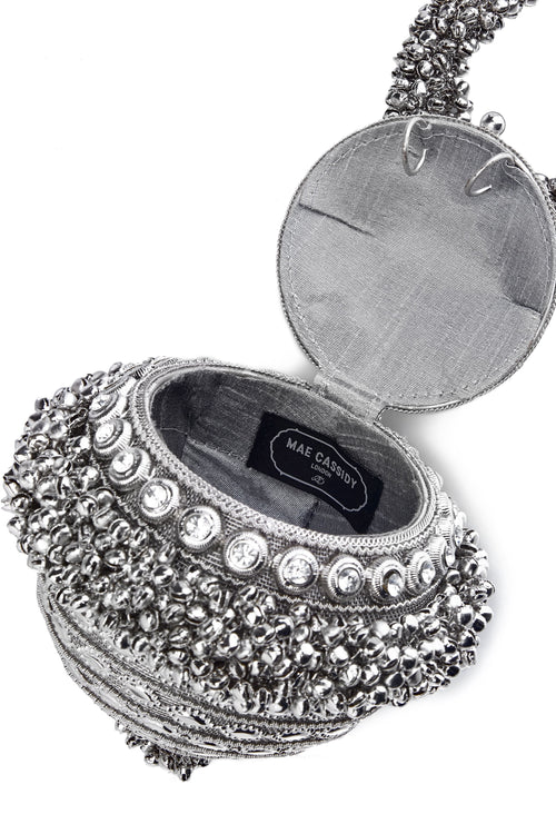 Mae Cassidy Simi Sparkle Silver Bracelet Clutch Bag Net-A-Porter Andrea Bocchieri Roni Ahn Laura Little Jinny Kim Daisy Toogood, As Seen In Elle