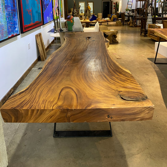 Large Live Edge Table, 136