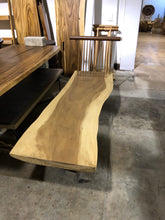 Load image into Gallery viewer, Live Edge Bench | Natural Modern Wooden Bench | Simple Unique Slab | Signature Piece
