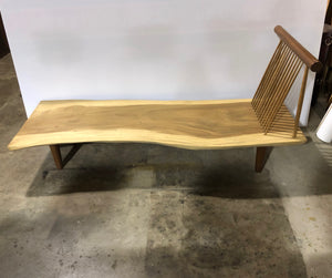 Live Edge Bench | Natural Modern Wooden Bench | Simple Unique Slab | Signature Piece